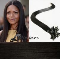 40 cm vlasy pro metodu Keratin 0,7 g - odstín přírodní černá #1b