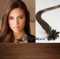 40 cm vlasy pro metodu Keratin 0,7 g - odstín světlejší hnědá #6
