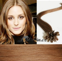 40 cm vlasy pro metodu Keratin 0,7 g - odstín světle hnědá #12