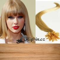 40 cm vlasy pro metodu Keratin 0,5 g - odstín přírodní blond #22