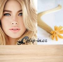 40 cm vlasy pro metodu Keratin 0,7 g - odstín nejsvětlejší blond #613