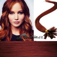 40 cm vlasy pro metodu Keratin 0,7 g - odstín měděná #350