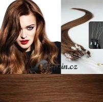 40 cm vlasy pro metodu Micro Ring 0,5 g - odstín světlejší hnědá #6