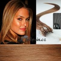 40 cm vlasy pro metodu Micro Ring 0,5 g - odstín světle hnědá #12