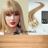 40 cm vlasy pro metodu Micro Ring 0,5 g - odstín přírodní blond #22