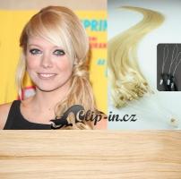 40 cm vlasy pro metodu Micro Ring 0,5 g - nejsvětlejší blond #613