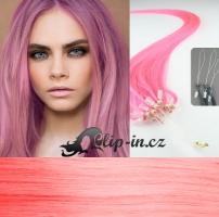 40 cm vlasy pro metodu Micro Ring 0,5 g - růžová