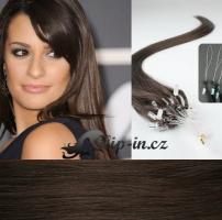 50 cm vlasy pro metodu Micro Ring 0,7 g - odstín tmavě hnědá #2