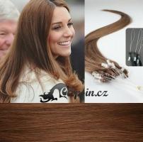 50 cm vlasy pro metodu Micro Ring 0,7 g - odstín světlejší hnědá #6