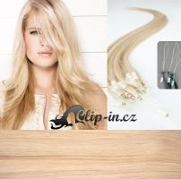 50 cm vlasy pro metodu Micro Ring 0,7 g - odstín nejsvětlejší blond #613