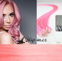50 cm vlasy pro metodu Micro Ring 0,7 g - odstín růžová