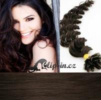 50 cm kudrnaté vlasy pro metodu Keratin 0,5 g - odstín tmavě hnědá #2