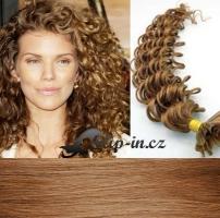 50 cm kudrnaté vlasy pro metodu Keratin 0,5 g - odstín světle hnědá #12