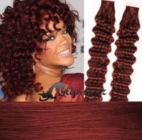 50 cm kudrnaté vlasy pro metodu Tape IN - odstín měděná #350