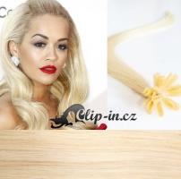 50 cm vlasy pro metodu Keratin 0,5 g - odstín platina #60