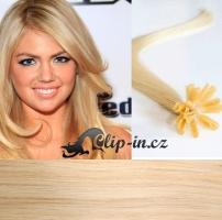 50 cm vlasy pro metodu Keratin 0,5 g - odstín nejsvětlejší blond #613