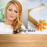 50 cm vlasy pro metodu Keratin 0,5 g - odstín přírodní blond #22