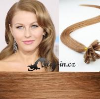 50 cm vlasy pro metodu Keratin 0,5 g - odstín světle hnědá #12