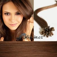 50 cm vlasy pro metodu Keratin 0,5 g - odstín světlejší hnědá #6