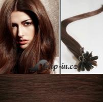 50 cm vlasy pro metodu Keratin 0,5 g - odstín středně hnědá #4