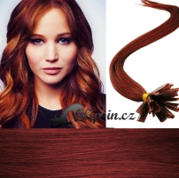 50 cm vlasy pro metodu Keratin 0,7 g - odstín měděná #350