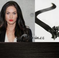 50 cm vlasy pro metodu Keratin 0,7 g - odstín přírodní černá #1b