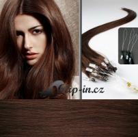 50 cm vlasy pro metodu Micro Ring 0,5 g - odstín středně hnědá #4