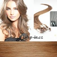 50 cm vlasy pro metodu Micro Ring 0,5 g - odstín světle hnědá #12