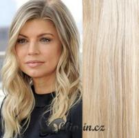 50 cm vlasy pro metodu Tape IN - odstín platina/světle hnědá #60/16