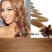50 cm vlnité vlasy pro metodu Keratin 0,5 g - odstín světle hnědá #12