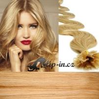 50 cm vlnité vlasy pro metodu Keratin 0,5 g - odstín přírodní blond #22