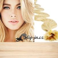 50 cm vlnité vlasy pro metodu Keratin 0,5 g - odstín nejsvětlejší blond #613