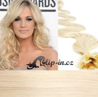 50 cm vlnité vlasy pro metodu Keratin 0,5 g - odstín platina #60