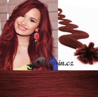 50 cm vlnité vlasy pro metodu Keratin 0,5 g - odstín měděná #350