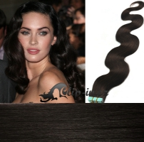 50 cm vlnité vlasy pro metodu Tape IN - odstín přírodní černá #1b