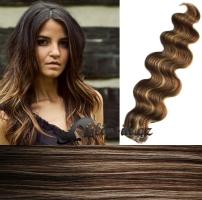 50 cm vlnité vlasy pro metodu Tape IN - odstín tmavý melír #4/27