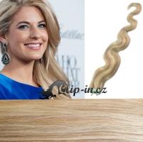 50 cm vlnité vlasy pro metodu Tape IN - odstín platina/světle hnědá #60/16