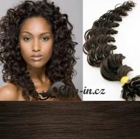 60 cm kudrnaté vlasy pro metodu Keratin 0,5 g - odstín tmavě hnědá #2