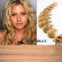 60 cm kudrnaté vlasy pro metodu Keratin 0,5 g - odstín přírodní blond #22