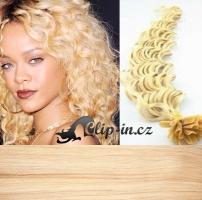 60 cm kudrnaté vlasy pro metodu Keratin 0,7 g - odstín nejsvětlejší blond #613