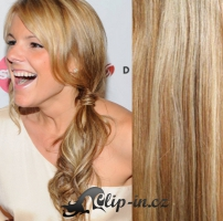 60 cm kudrnaté vlasy pro metodu Tape IN - odstín přírodní/světlejší blond #18/22