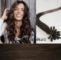60 cm vlasy pro metodu Keratin 0,5 g - odstín tmavě hnědá #2