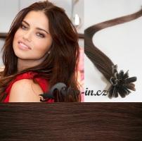 60 cm vlasy pro metodu Keratin 0,5 g - odstín středně hnědá #4