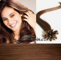 60 cm vlasy pro metodu Keratin 0,5 g - odstín světlejší hnědá #6