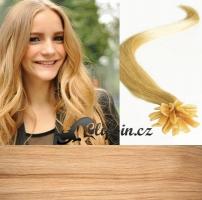 60 cm vlasy pro metodu Keratin 0,5 g - odstín přírodní blond #22