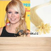 60 cm vlasy pro metodu Keratin 0,5 g - odstín nejsvětlejší blond #613