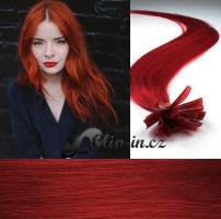 60 cm vlasy pro metodu Keratin 0,7 g - odstín měděná #350
