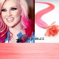 60 cm vlasy pro metodu Keratin 0,5 g - odstín růžová