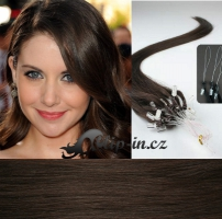 60 cm vlasy pro metodu Micro Ring 0,7 g - odstín tmavě hnědá #2
