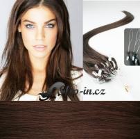 60 cm vlasy pro metodu Micro Ring 0,5 g - odstín středně hnědá #4